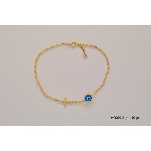ΠΑΙΔΙΚΟ ΒΡΑΧΙΟΛΙ ΧΡΥΣΟ VS00921 - Κοσμήματα Ρεΐσης Κάλυμνος - Reisis ... 91dfc8280fe